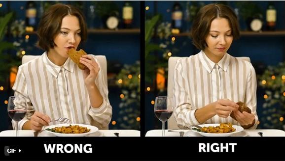 quy tắc ứng xử trên bàn ăn lưu ý khi ăn bánh mì