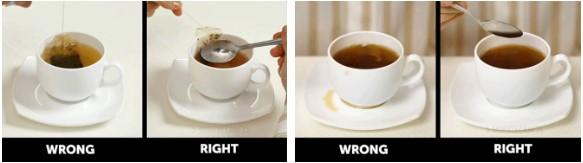 quy tắc ứng xử trên bàn ăn lưu ý khi uống trà túi lọc